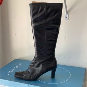 Brown Leather Boot by Nine West